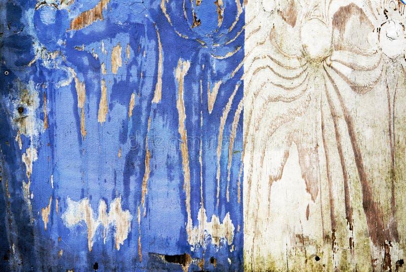 Placa de madeira azul colorida foto de stock