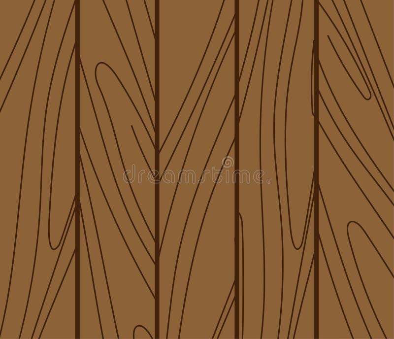Placa de madeira da madeira do teste padrão da textura do fundo Vetor de superfície do painel do marrom do vintage do assoalho Ma ilustração royalty free