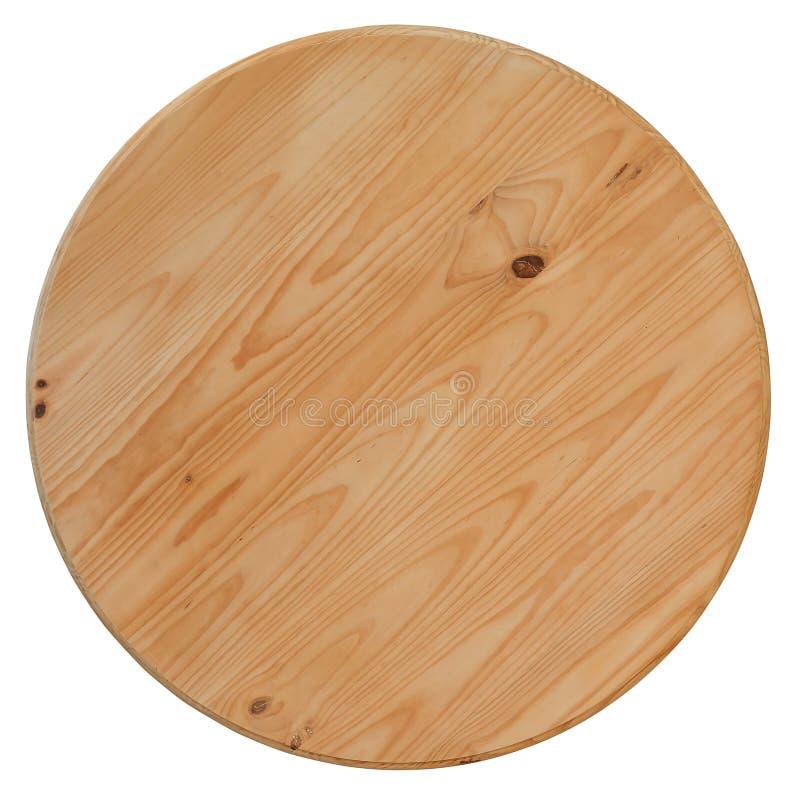 Placa de madeira de mesa redonda fotos de stock