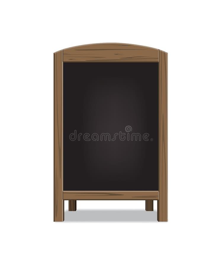 Placa de madeira do anúncio do menu do vetor ilustração royalty free