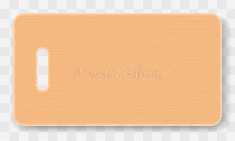 Placa de madeira do desbastamento ou de corte no fundo quadriculado transparente Ilustração do vetor ilustração royalty free