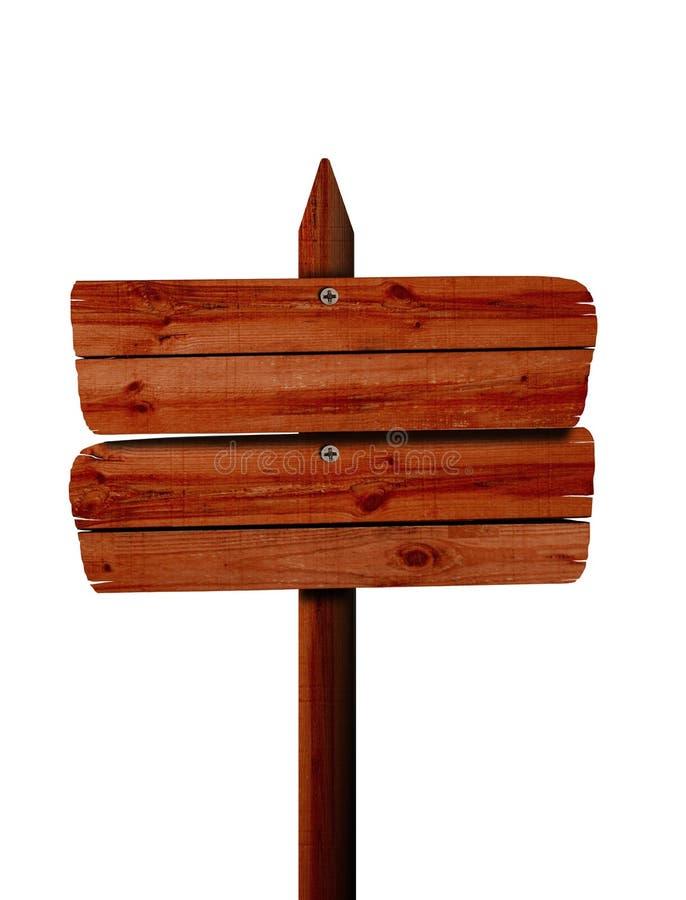Placa de madeira do sinal ilustração royalty free