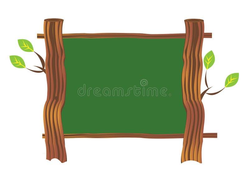 Placa de madeira do sinal ilustração do vetor