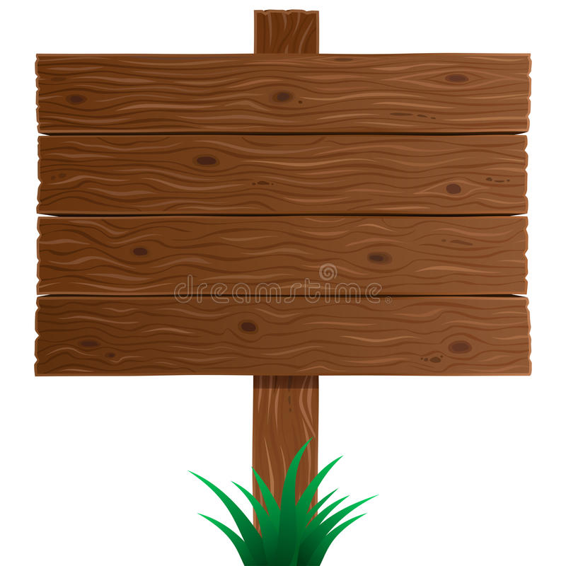 Placa de madeira do sinal no vetor ilustração do vetor
