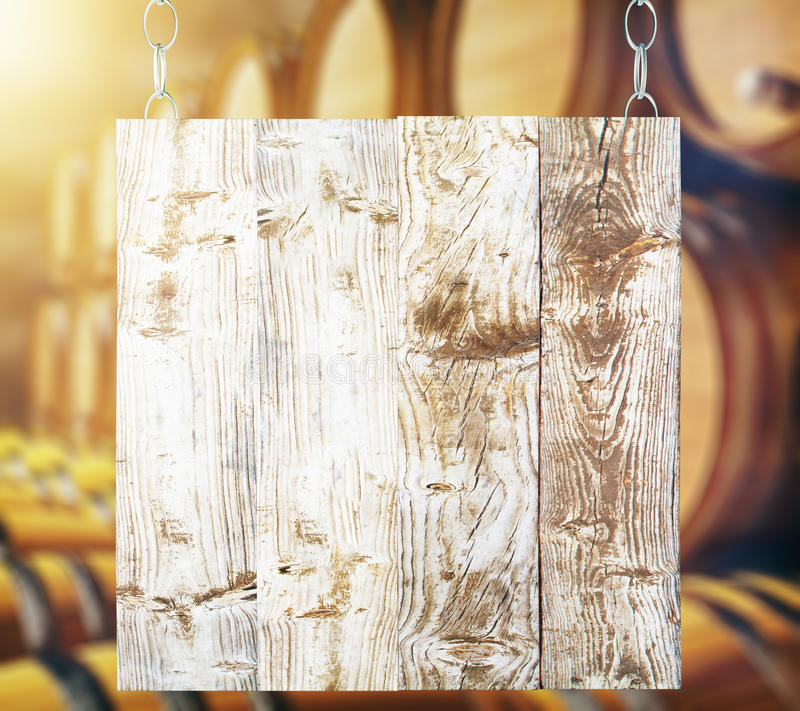 Placa de madeira em branco ilustração do vetor