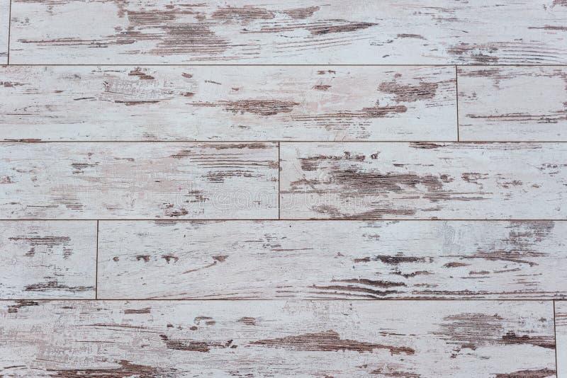 Placa de madeira idosa Parede de madeira com uma pintura velha gasto Cerca Textura de madeira Seção transversal da árvore Fundo imagens de stock