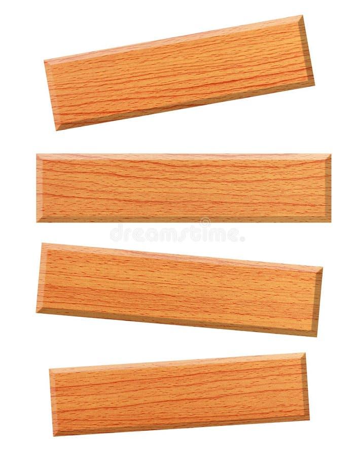 Placa de madeira isolada no branco foto de stock