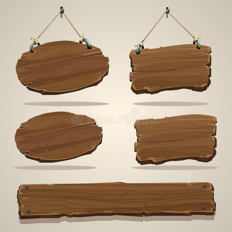 Placa de madeira na corda