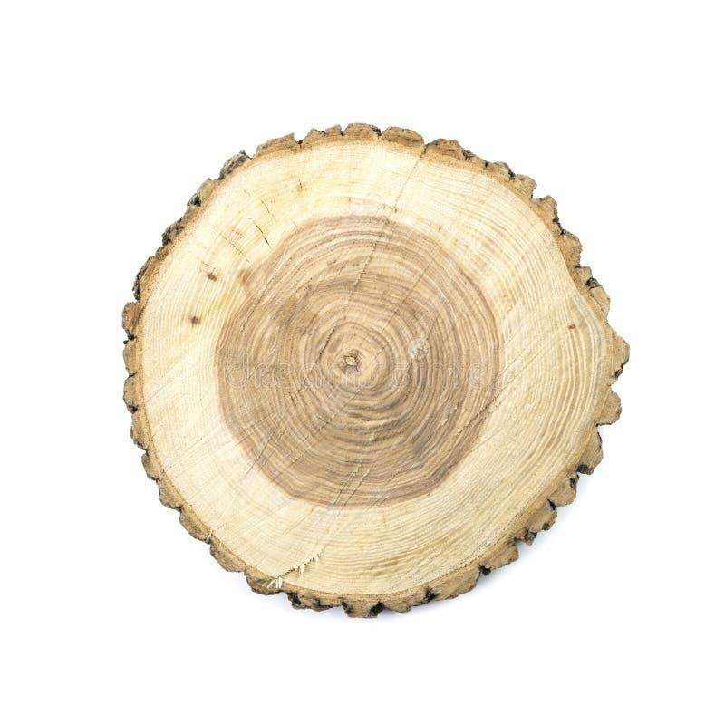 Placa de madeira redonda do corte foto de stock royalty free