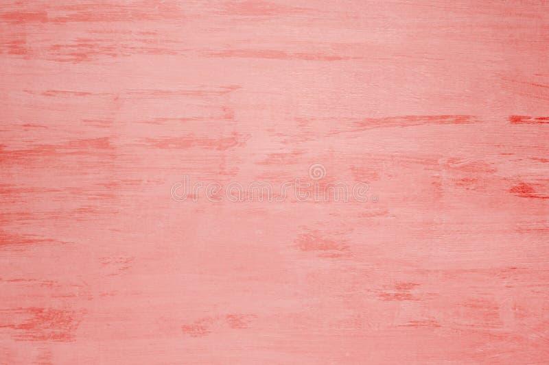 Placa de madeira velha pintada com pintura coral, fundo, textura foto de stock royalty free