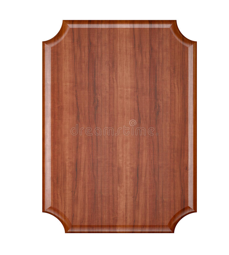 Placa de madera en blanco. imagenes de archivo