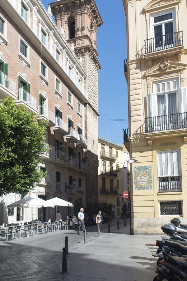 Placa de Manises fyrkant, València, Spanien arkivbild