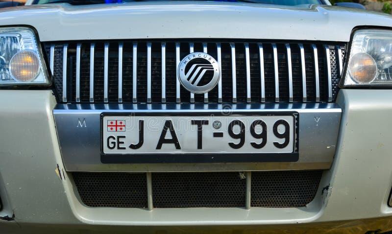 Placa de matrícula do veículo do carro moderno imagens de stock
