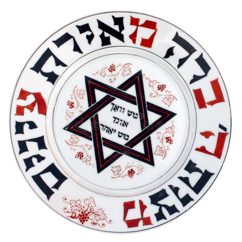 Placa de Matzoth da porcelana do vintage imagens de stock royalty free