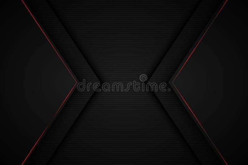 Placa de mensajes de ilustraciones vectoriales grises de la dimensión de la superposición de fondo negro para el diseño de mensaj libre illustration