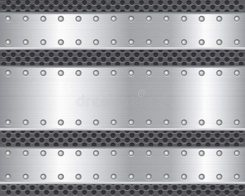 Placa de metal 2 ilustração stock