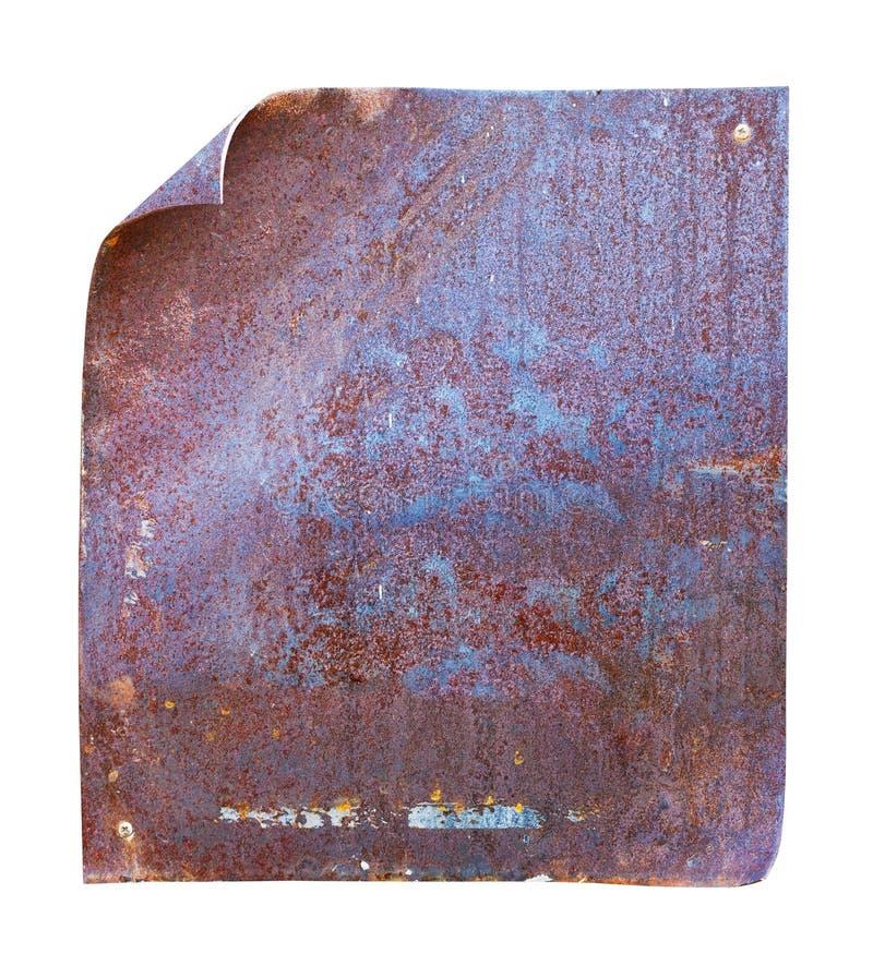 Placa de metal fotografia de stock royalty free