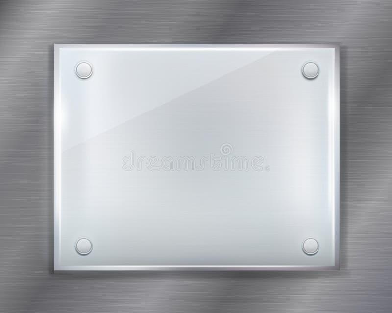 Placa de metal ilustração stock
