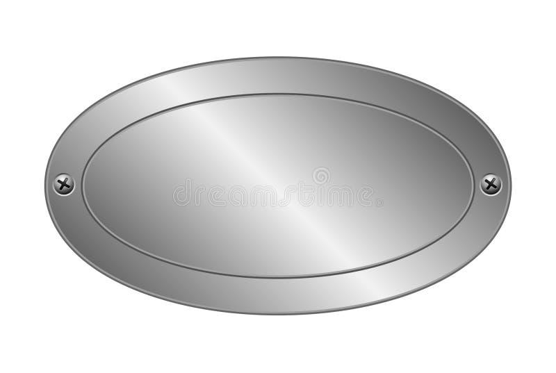 Placa de metal ilustração do vetor