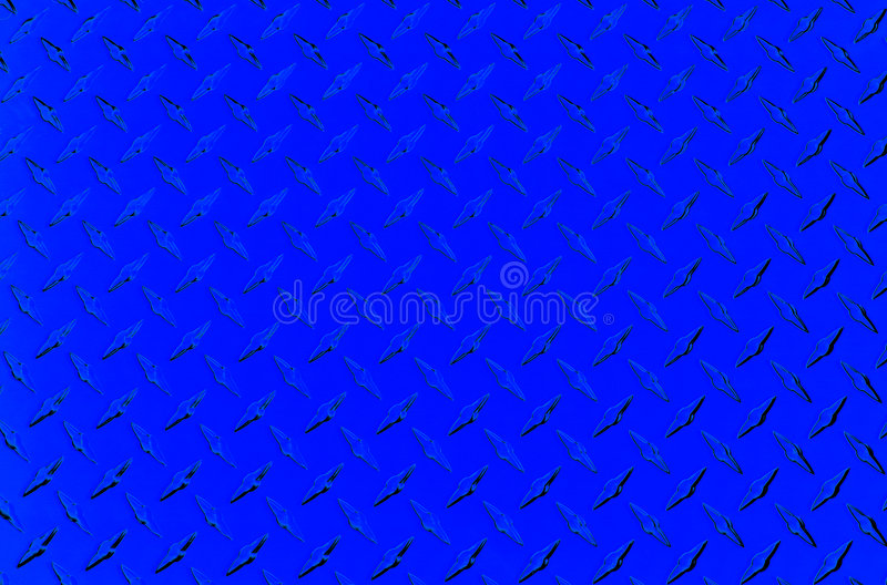 Placa de metal azul ilustração stock