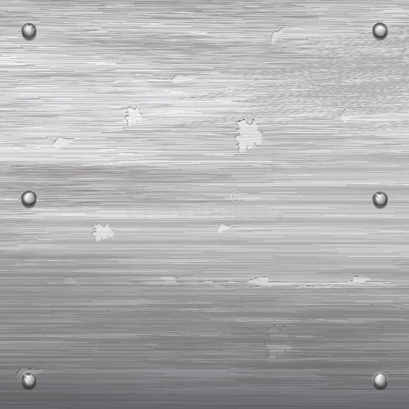 Placa de metal com espaço para seu texto ilustração royalty free
