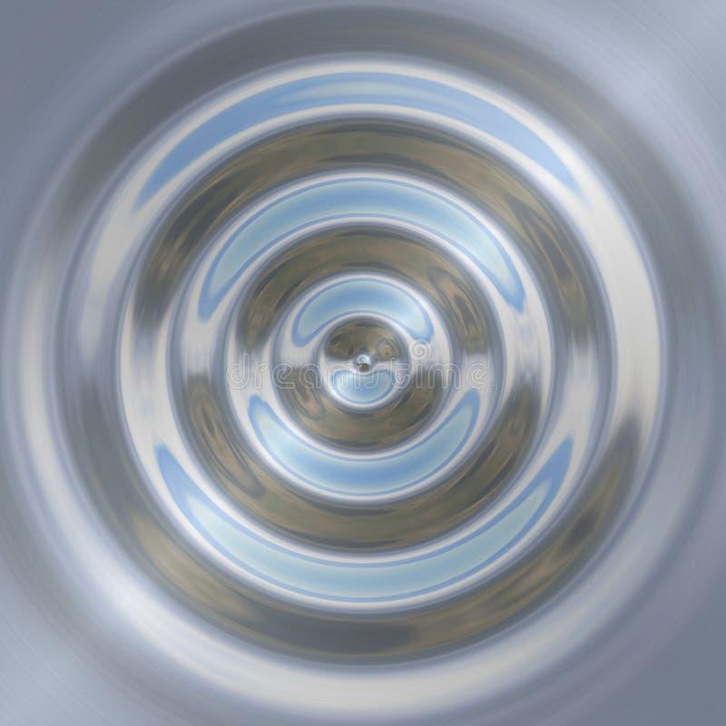 Placa de metal com gotas da água. ilustração royalty free