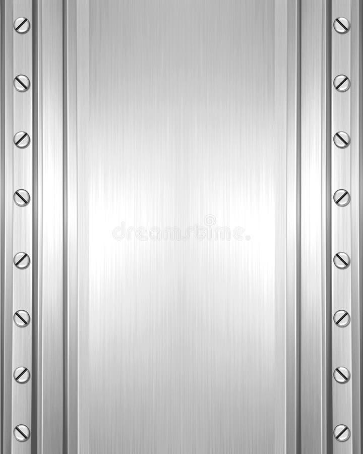 Placa de metal com parafusos ilustração stock