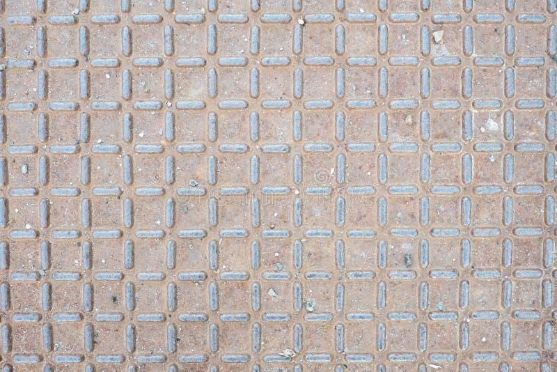 Placa de metal como a tampa com oxidação imagem de stock