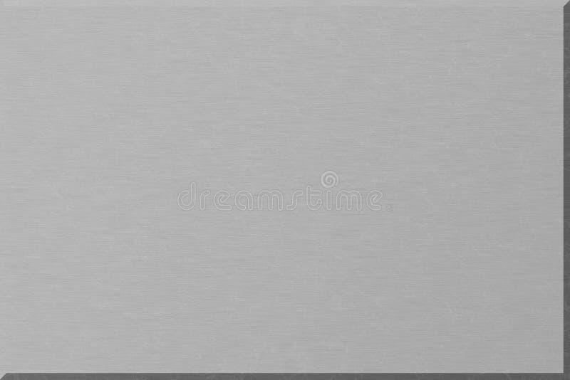 Placa de metal de prata ilustração do vetor