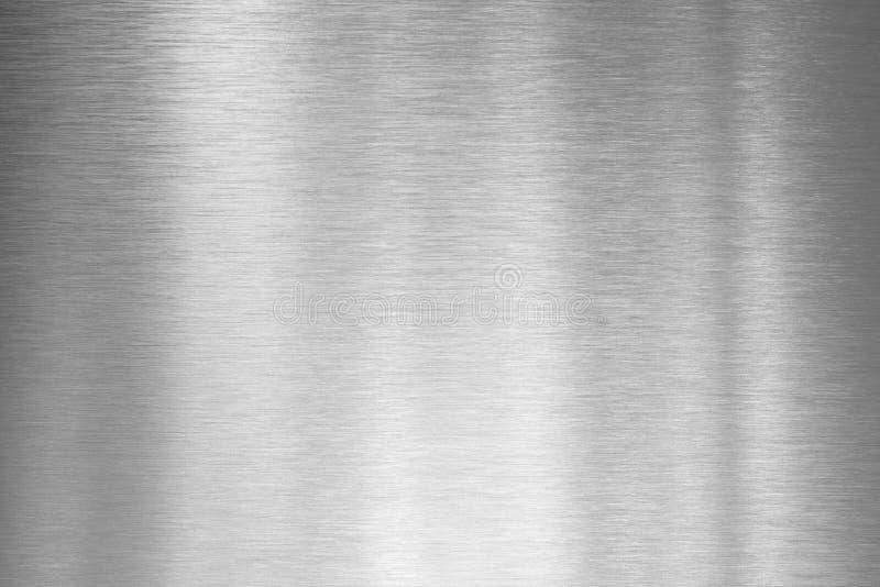 Placa de metal de prata escovada fotografia de stock royalty free