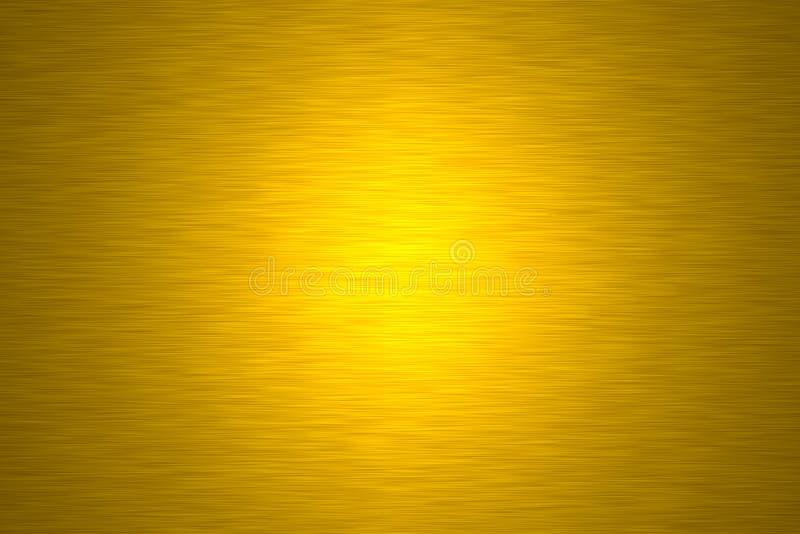 Placa de metal do ouro fotografia de stock