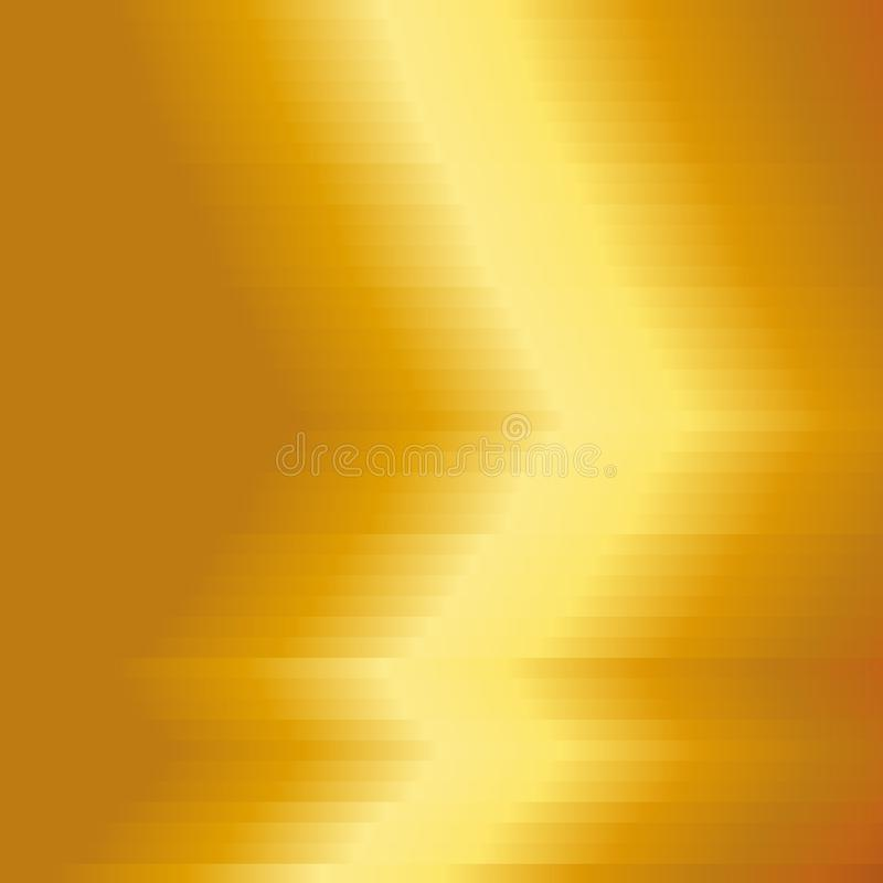 Placa de metal do ouro com fundo amarelo da textura Fundo do metal do ouro Ilustração do vetor ilustração stock