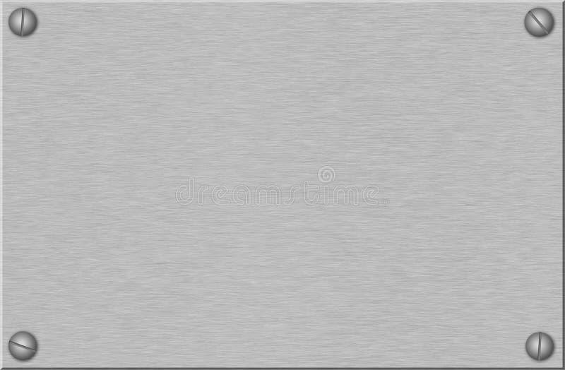 Placa de metal escovada com parafusos imagens de stock
