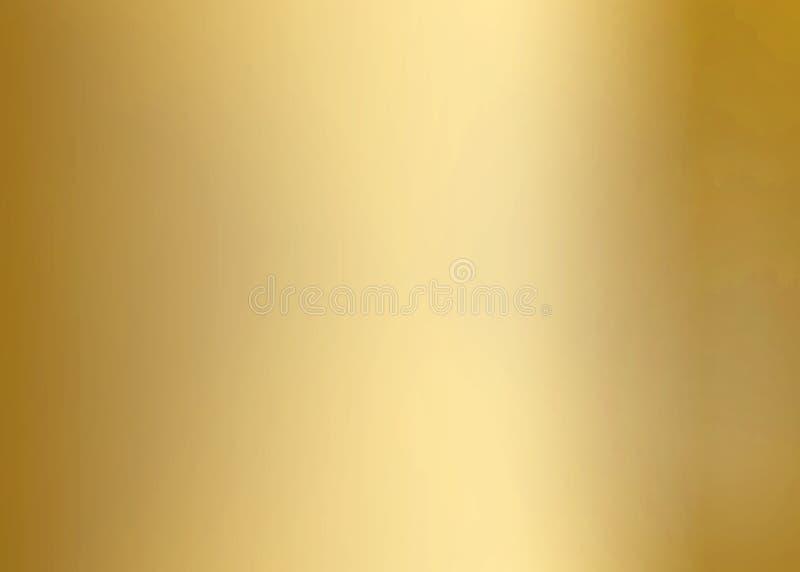 Placa de metal lisa do ouro ilustração royalty free