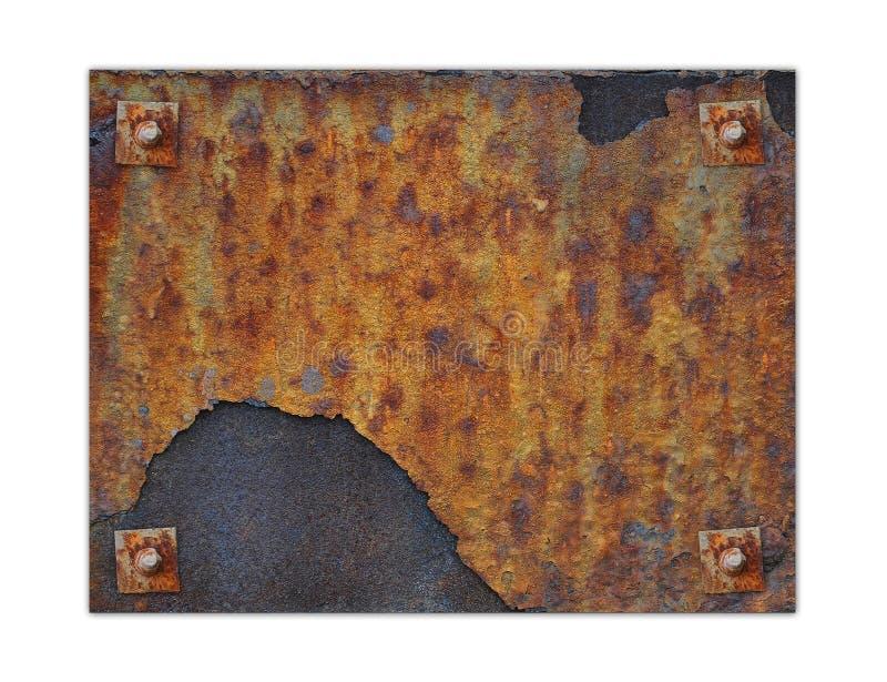 Placa de metal oxidada foto de stock