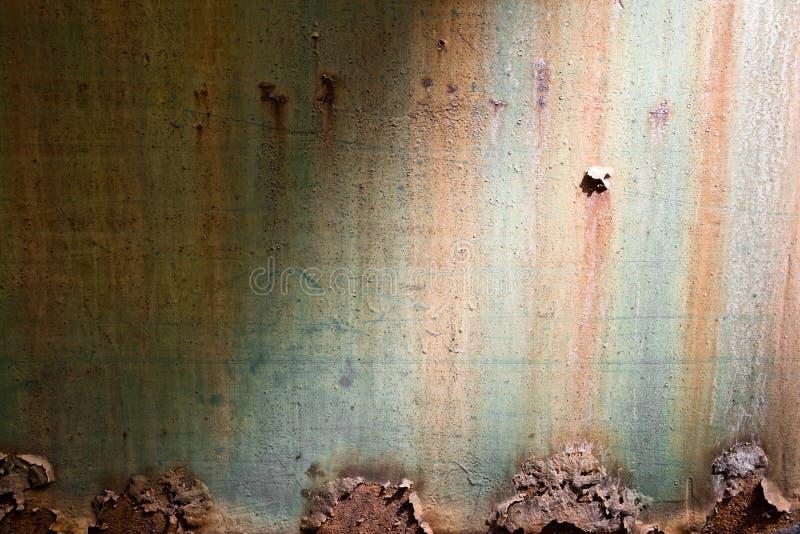 Placa de metal oxidada imagenes de archivo