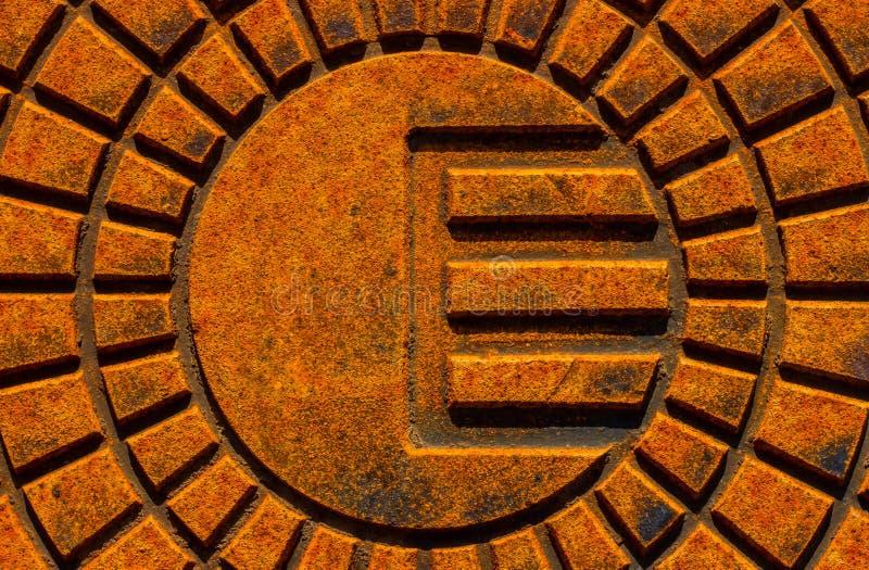 Placa de metal oxidada fotografía de archivo libre de regalías