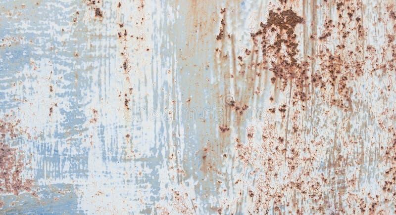 Placa de metal oxidada com pintura de brilho cinzenta imagem de stock royalty free