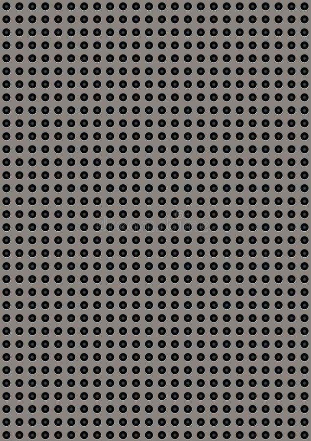 Placa de metal perforada artificial imagen de archivo