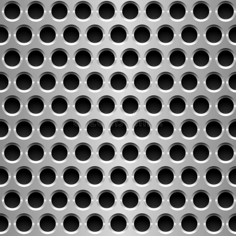 Placa de metal perfurada. ilustração stock