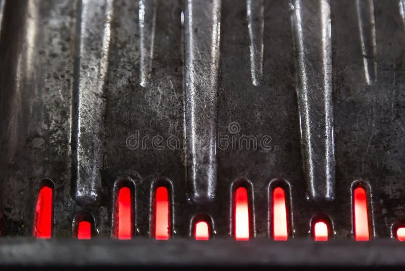 Placa de metal preta do assado da cor imagem de stock