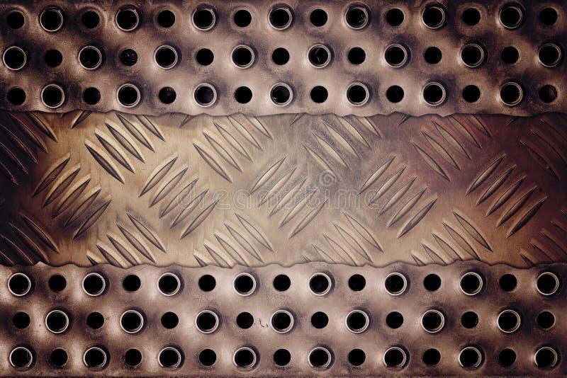 Placa de metal rachada imagem de stock