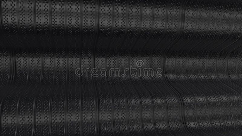 Placa de metal tapume Superfície sem emenda do aço galvanizado Textura do teste padrão do metal para o fundo Negócio - skyline da ilustração do vetor