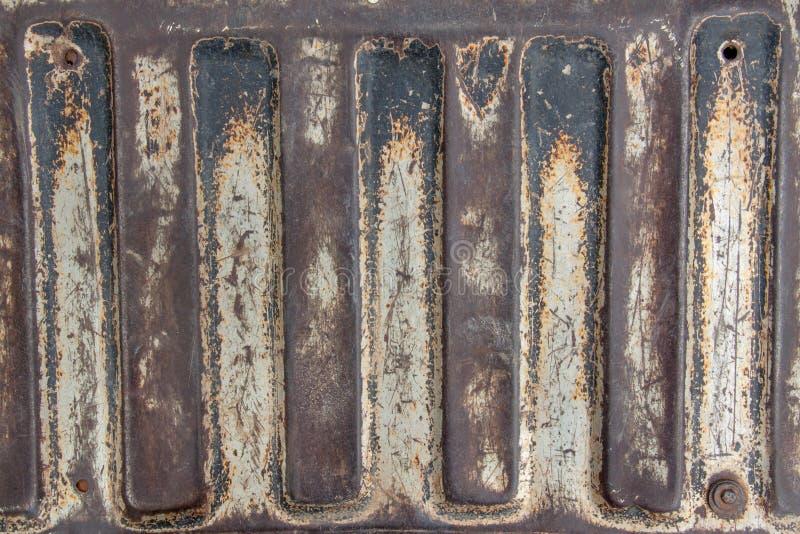 Placa de metal velha imagem de stock