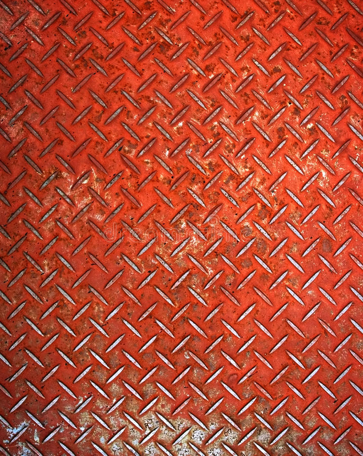Placa de metal vermelha do diamante fotos de stock