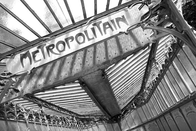 Placa de observação de Metropolitain em preto e branco fotos de stock royalty free