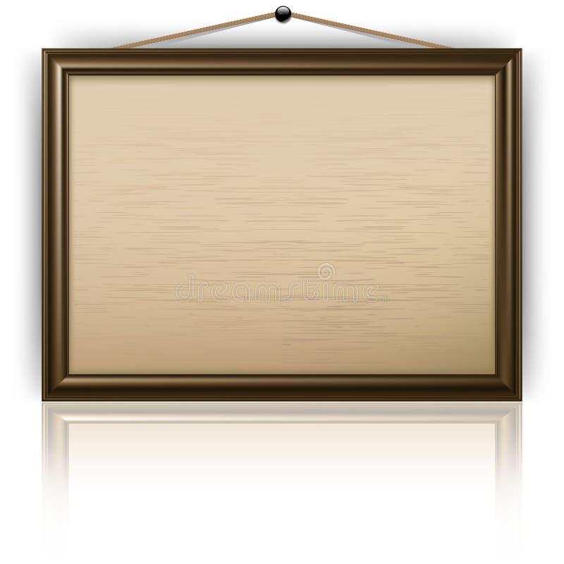 Placa de observação vazia ilustração stock