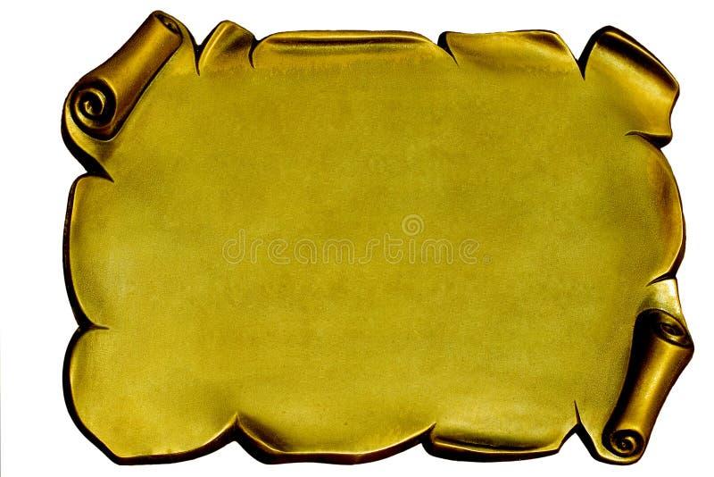 Placa de oro fotos de archivo
