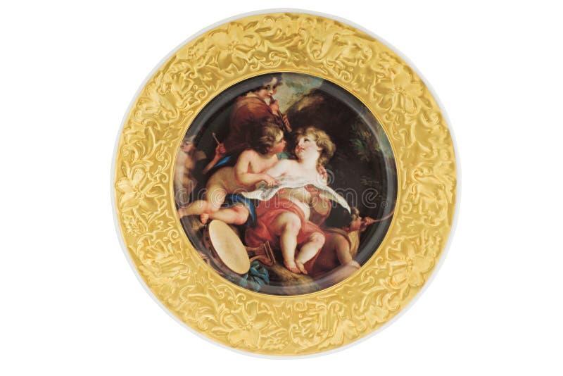 Placa de oro imágenes de archivo libres de regalías