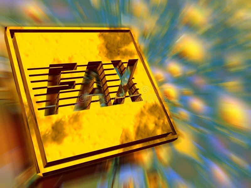 Placa de oro, velocidad del fax. ilustración del vector